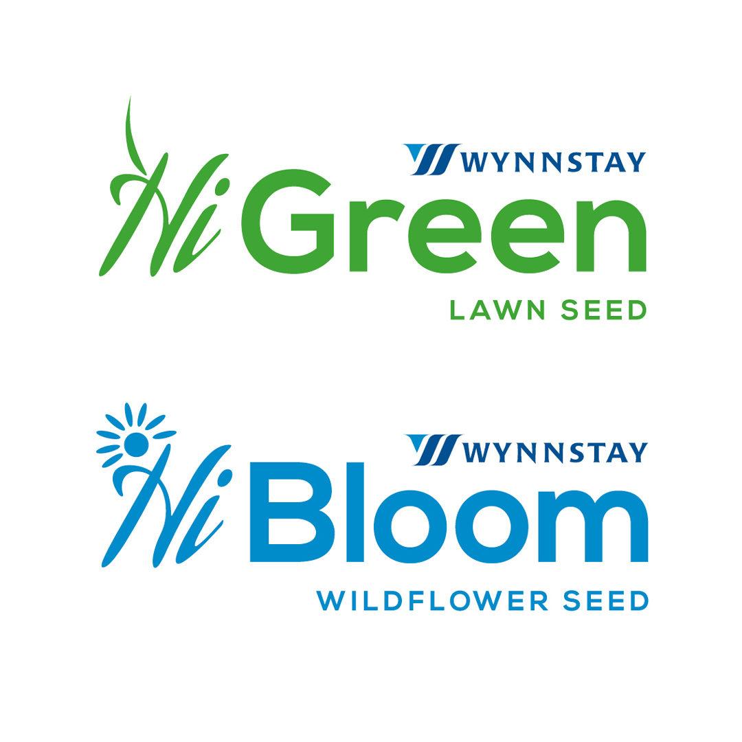 Wynnstay Green Lawn Seed and Wynnstay Bloom Wildflower Seed – Logo