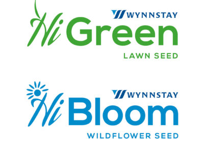 Wynnstay Green Lawn Seed and Wynnstay Bloom Wildflower Seed – Logo